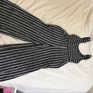 striped long romper